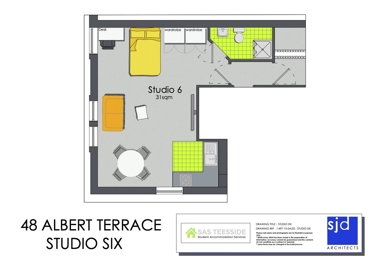 The Alexandra Apartment - Floor Plan
